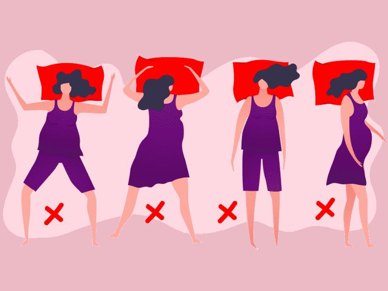 cara tidur ibu mengandung yang salah