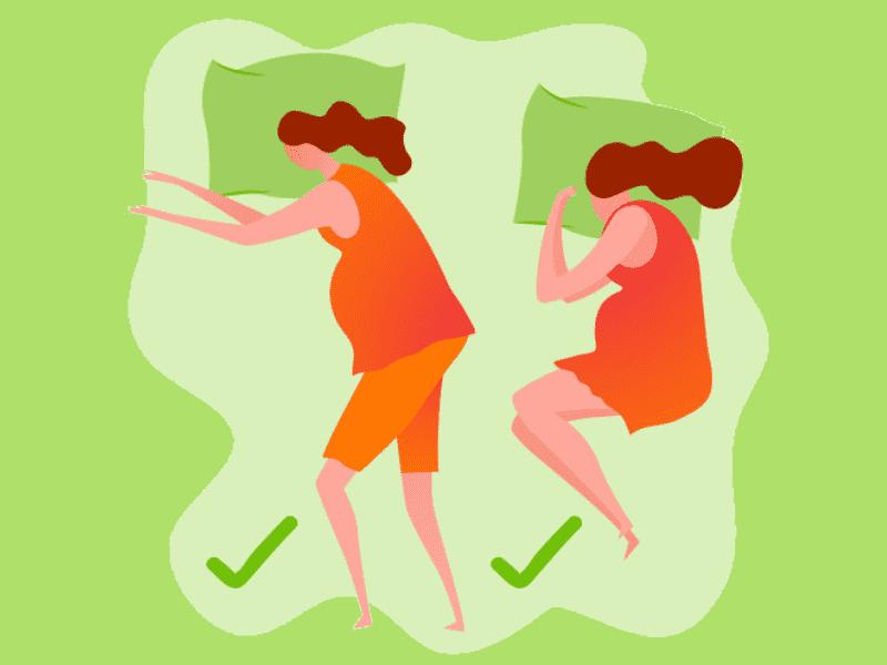 cara yang betul untuk tidur ibu hamil