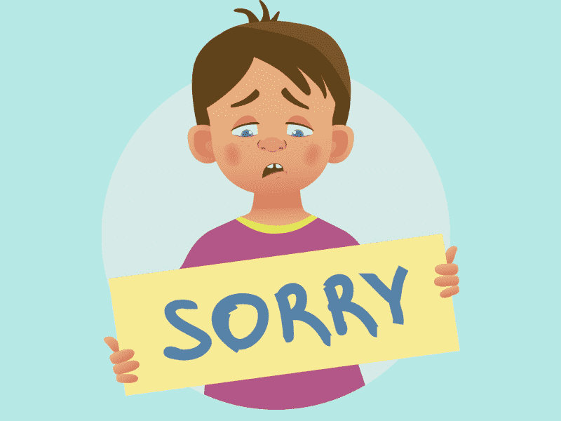 didik supaya meminta maaf
